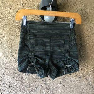 Lululemon Green Striped Shorts